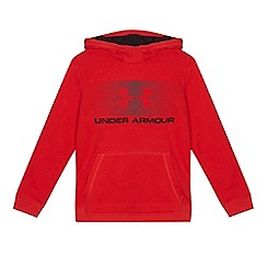 Under Armour - Boys' red logo print hoodie