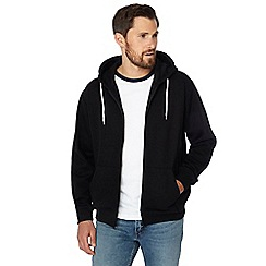 Jacamo - Big and tall black long sleeve hoodie