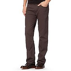 Ben Sherman - Grey cord straight leg trousers