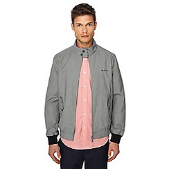 Ben Sherman - Grey puppy tooth textured Harrington jacket
