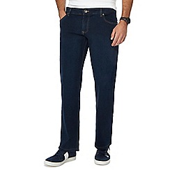 Jacamo - Dark blue dark wash loose fit long length jeans
