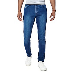 Jacamo - Blue mid wash denim skinny long length jeans