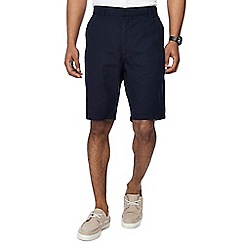 Jacamo - Navy linen blend slim fit shorts