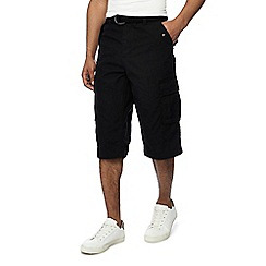 Jacamo - Black regular fit cargo shorts