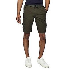 Jacamo - Khaki 'Axel' cargo shorts