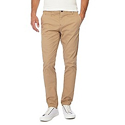 Jacamo - Natural skinny fit regular leg length chino trousers