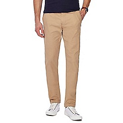Jacamo - Natural tapered fit regular leg chino trousers