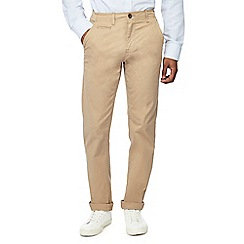 Jacamo - Natural tapered fit long leg chino trousers