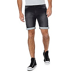Jacamo - Black denim shorts