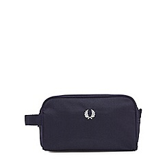 Fred Perry - Navy twill check wash bag