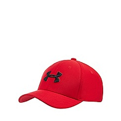 Under Armour - 'Boys' red embroidered logo baseball hat