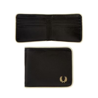 Fred Perry   Black Billfold Wallet by Fred Perry