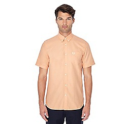 Fred Perry - Light orange button down collar short sleeve Oxford shirt