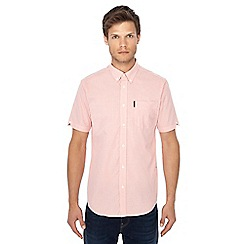 Ben Sherman - Coral gingham print short sleeve shirt