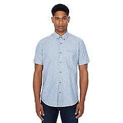 Ben Sherman - Blue bird print chambray short sleeve shirt