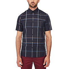 Fred Perry - Navy checked short sleeves regular fit shirt