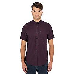 Ben Sherman - Wine gingham check short sleeve shirt