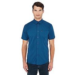 Ben Sherman - Blue gingham print short sleeve shirt