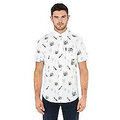 Ben Sherman - White drum print short sleeve shirt