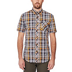 Ben Sherman - Mustard check print short sleeve regular fit shirt