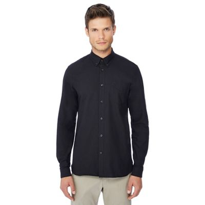 Fred Perry   Black Button Down Collar Oxford Shirt by Fred Perry