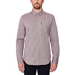 Ben Sherman - Dark red long sleeve regular fit Oxford shirt