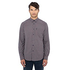 Ben Sherman - Red micro check long sleeve shirt