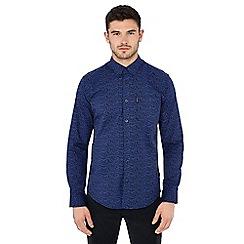 Ben Sherman - Dark blue 'Keith Moon' print long sleeve shirt