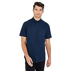 Jacamo - Navy short sleeve regular fit Oxford shirt