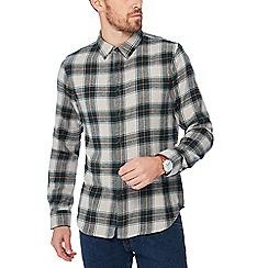 Jacamo - Grey checked long sleeve regular fit shirt