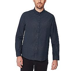 Jacamo - Navy star print long sleeve regular fit shirt