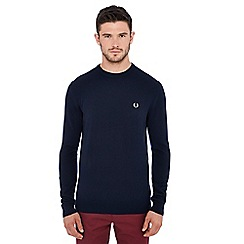 Fred Perry - Navy embroidered logo wool jumper