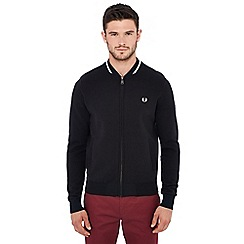 Fred Perry - Black knit bomber jacket