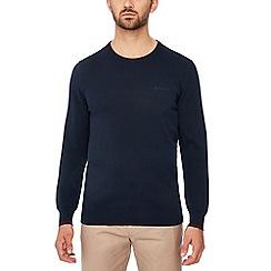 Ben Sherman - Navy tipped cotton jumper