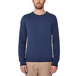 Ben Sherman - Mid blue tipped cotton jumper