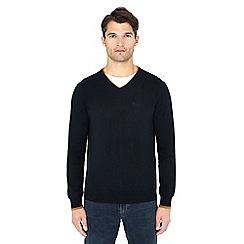 Ben Sherman - Black V-neck cotton jumper