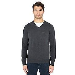 Ben Sherman - Grey V-neck cotton jumper