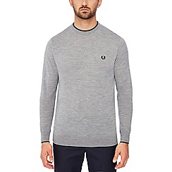 Fred Perry - Grey tipped wool jumper