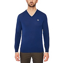 Fred Perry - Navy tipped wool jumper
