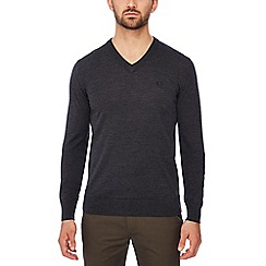 Fred Perry - Dark grey tipped wool jumper
