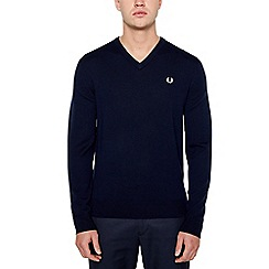 Fred Perry - Navy Wool Jumper