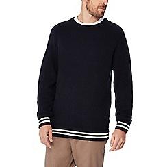 Jacamo - Navy tipped cotton jumper