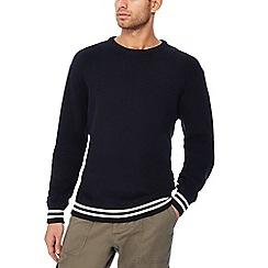 Jacamo - Big and tall navy tipped long cotton jumper