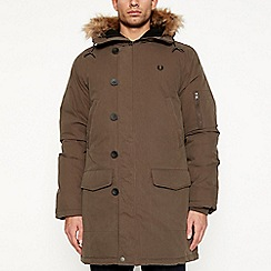 Fred Perry - Khaki padded down parka