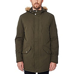 Ben Sherman - Khaki hooded parka