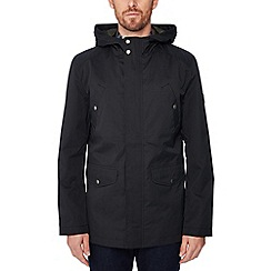 Ben Sherman - Black four pocket hooded coat