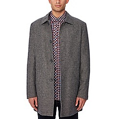 Ben Sherman - Dark grey wool blend coat