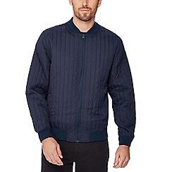 Jacamo - Navy quilted bomber jacket