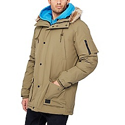 Hype - Khaki faux fur trim parka