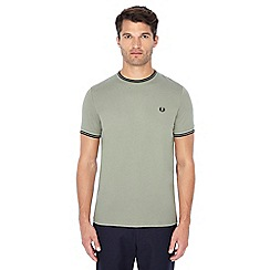 Fred Perry - Khaki embroidered logo t-shirt